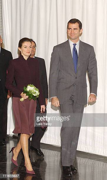 Princess Letizia and Crown Prince Felipe during Crown Prince Felipe and Princess Letizia Present The Codespa Foundation 'Empresa Solidaria' Award at...