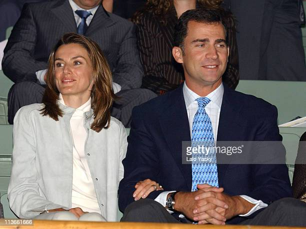 Princess Letizia and Crown Prince Felipe during Spanish Royals Attend 'Me Olvide de Vivir' Gala in Favor of the Queen Sofia Foundation at Vista...