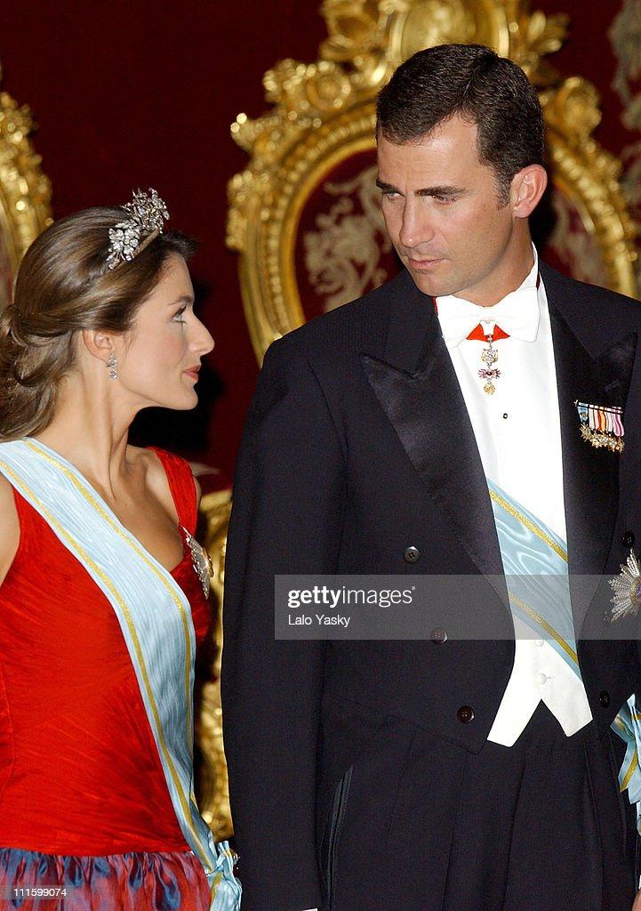 Princess Letizia and husband H.R.H. Crown Prince Felipe of Spain