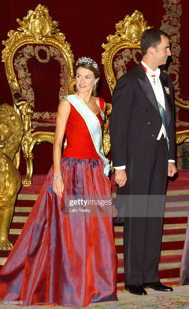 Princess Letizia and husband H.R.H.Crown Prince Felipe of Spain
