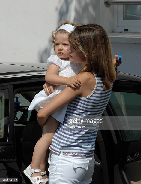 Princess Letizia and Infanta Leonor at the Real Club Nautico de Palma during the first day of the Copa del Rey sailing trophy, on July 30, 2007 in...