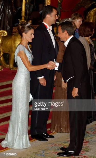 Princess Letizia and Spain's Prime Minister Rodriguez Zapatero