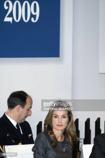 Princess Letizia at the 2009 edition of the Prince Felipe Award for Business Excellence awarded by the Ministry of Industry Tourism and Trade