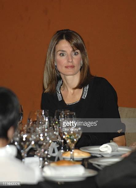 HRH Princess Letizia attends the Madrid Down Syndrome and Stela Project Dinner at La Zarzuela Hippodrome on November 6 2007 in Madrid Spain