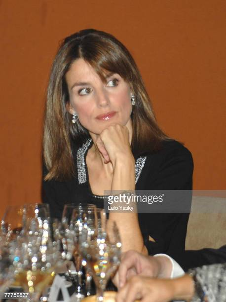 Princess Letizia attends the Madrid Down Syndrome and Stela Project Dinner at La Zarzuela Hippodrome on November 6 2007 in Madrid Spain