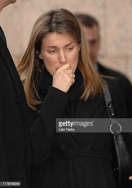 Princess Letizia during Erika Ortiz Funeral February 8 2007 at Tres Cantos Cemetry in Madrid Spain
