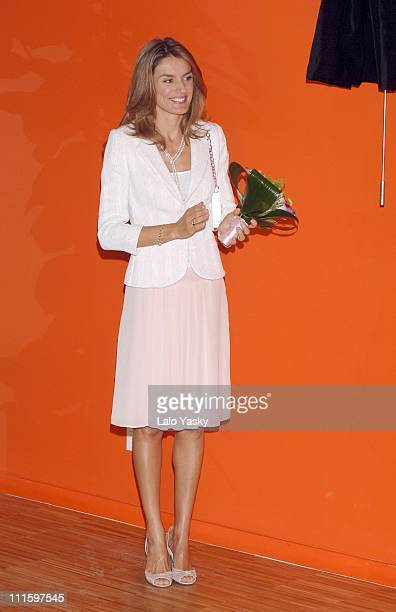 Princess Letizia during Opening of the New 'Juan XXIII Foundation' by Crown Prince Felipe and Princess Letizia at Princess Letizia and Prince Felipe...