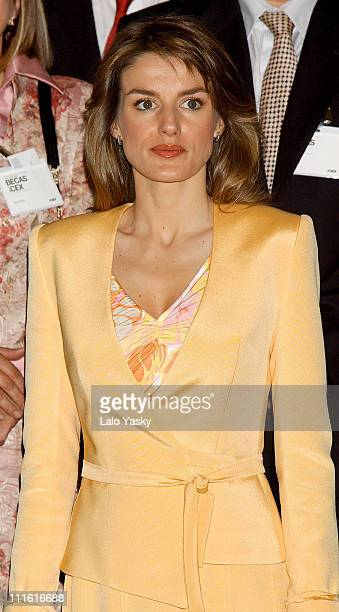 Princess Letizia during Prince Felipe and Princess Letizia Preside over the 30th Anniversary of the Grants Program at Foreign Commerce Institute in...