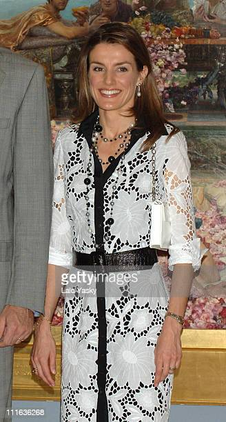 Princess Letizia during Royal Opening of 'De Cranach A Monet' Exhibition at Thyssen Bornemizza Museum in Madrid Spain