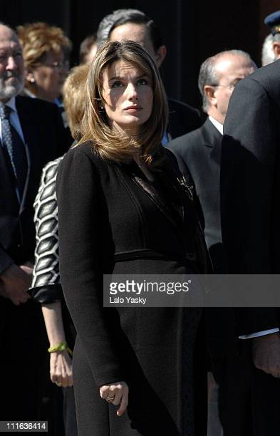 HRH Princess Letizia during Spanish Royals Preside Over the Unveiling of Monument in Memory of the Victims of March 11 2004 Terrorist Attacks at...