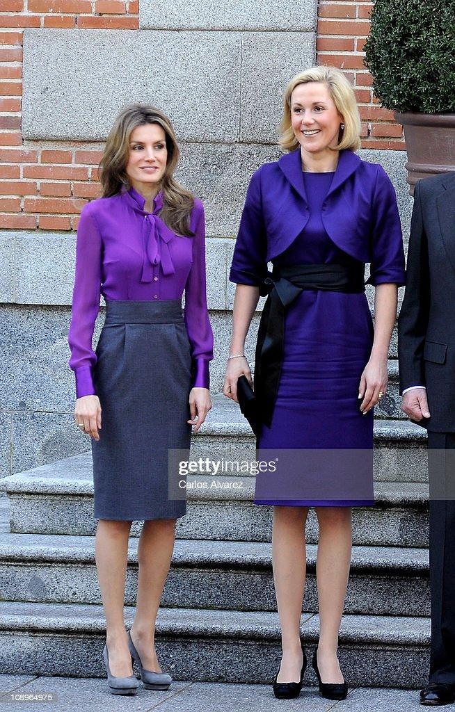 Spanish Royals Meet President of Germany Christian Wulff : News Photo