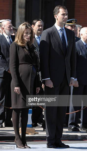Princess Letizia of Spain and Crown Prince Felipe of Spain preside the inauguration of the Monument in honour of 11 March 2004 Terrorists attacks in...