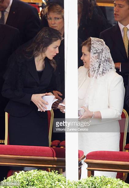 Princess Letizia of Spain and Maria Teresa Grand Duchess of Luxembourg attend John Paul II Beatification Ceremony held by Pope Benedict XVI on May 1...