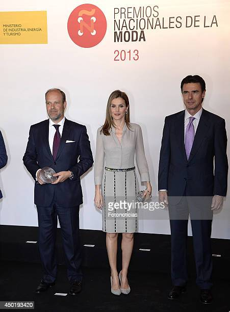 Princess Letizia of Spain and Minister Jose Manuel Soria attend the I National Fashion Awards on June 6 2014 in Madrid Spain