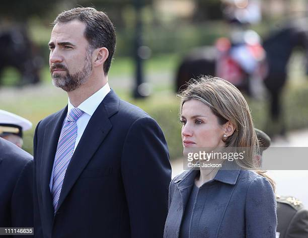 Princess Letizia of Spain and Prince Felipe of Spain visit the Palacio Del Pardo on day one of a three day visit to Spain on March 30 2011 in Madrid...