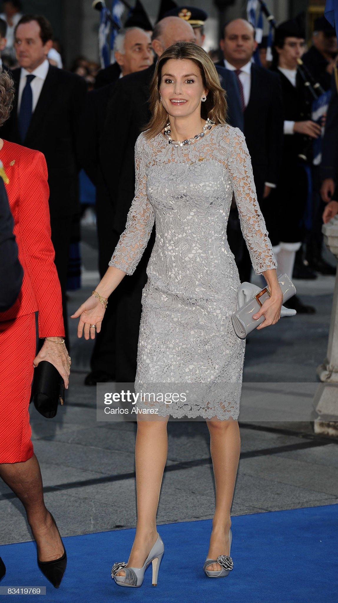 Вечерние наряды Королевы Летиции Prince Of Asturias Awards 2008 : News Photo