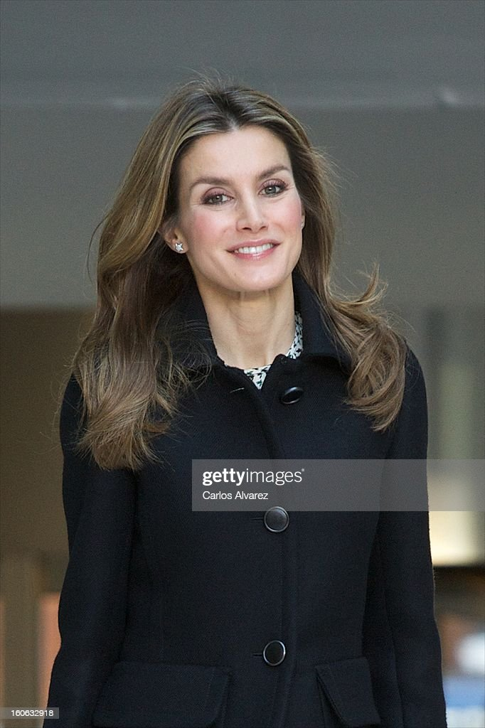 Princess Letizia of Spain arrives to Forum against Cancer on February 4, 2013 in Madrid, Spain.