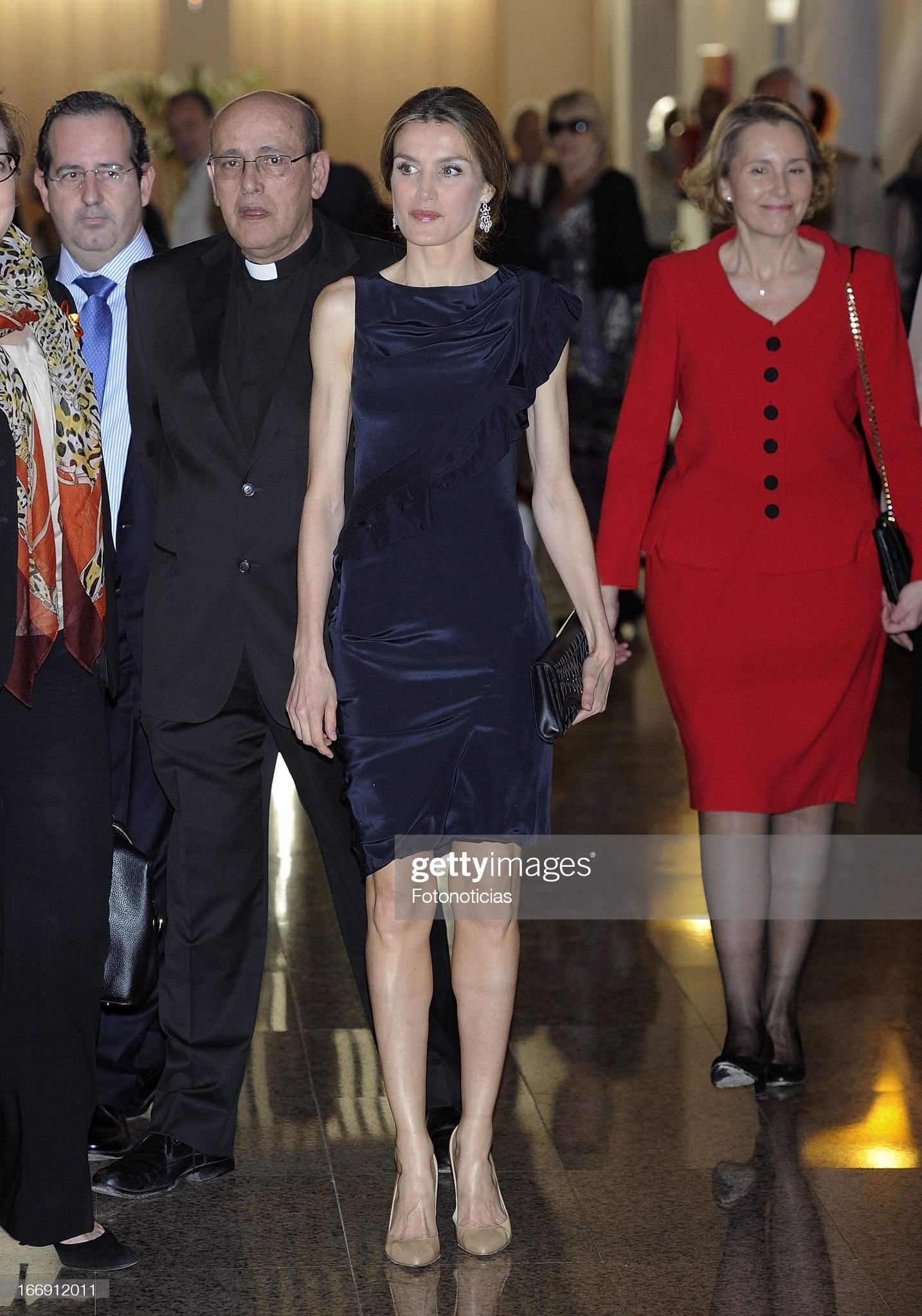 Вечерние наряды Королевы Летиции Princess Letizia Attends a Concert At The Auditorio Nacional de Musica : News Photo