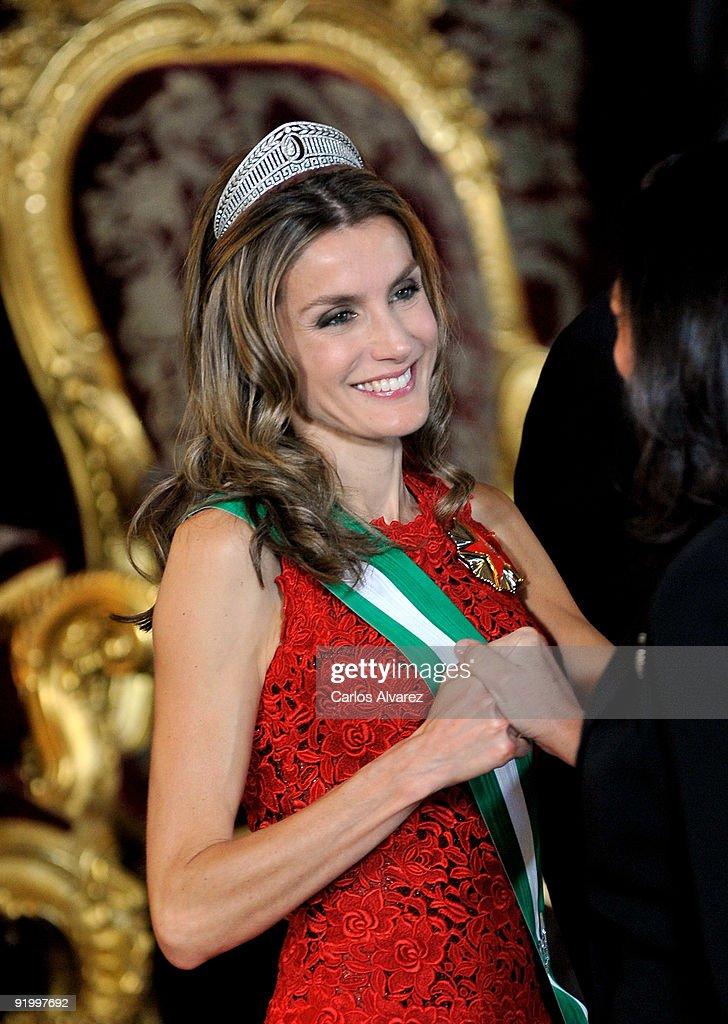 Spanish Royals Host Gala Dinner with Michel Suleiman, President of Lebanon : News Photo