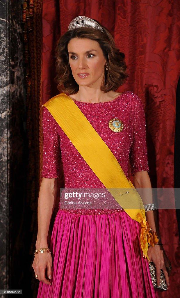Spanish Royals Host Gala Dinner Honouring Mexican President : News Photo