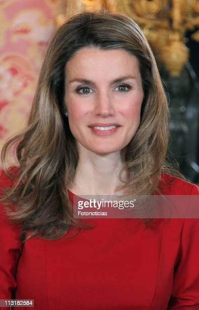 Princess Letizia of Spain attends a lunch in ocassion of the '2011 Cervantes Award' at The Royal Palace on April 26, 2011 in Madrid, Spain.