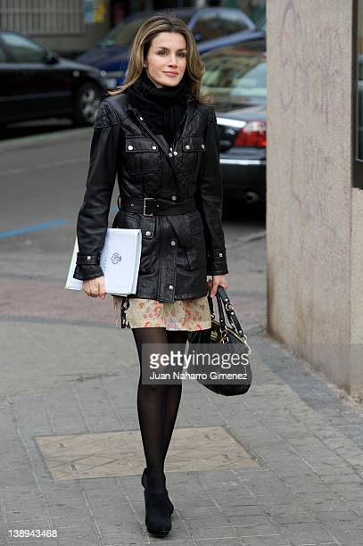 Princess Letizia of Spain attends a meeting of the Federacion Espanola de Enfermedades Raras at FEDER Sede on February 14 2012 in Madrid Spain