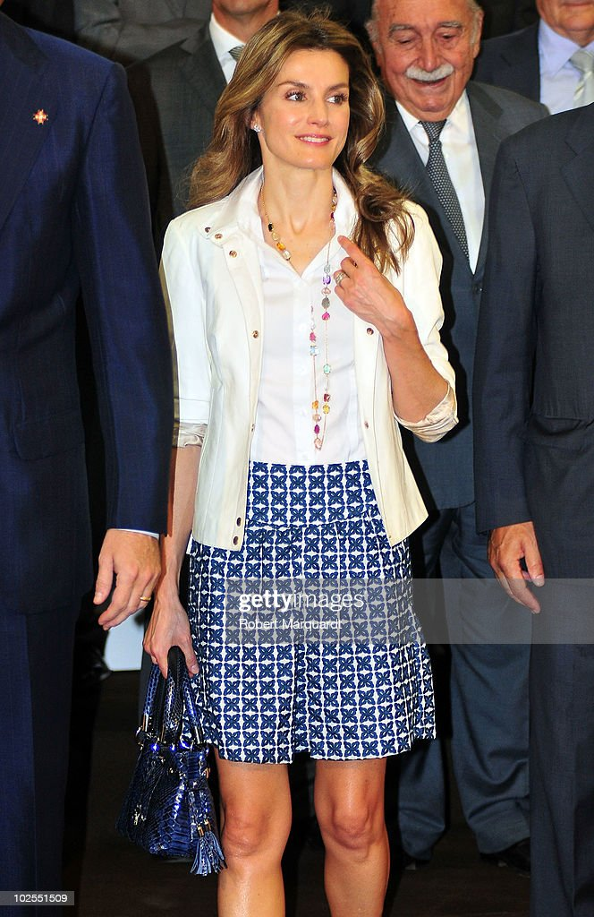 Spanish Royals Attend Meeting With Prince Of Girona Foundation : News Photo