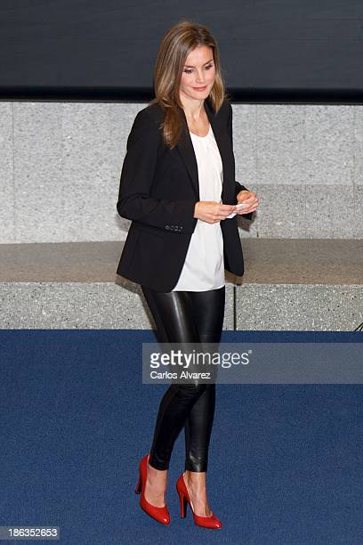 Princess Letizia of Spain attends AEEPP 2013 Awards at the Casa de la Moneda on October 30 2013 in Madrid Spain