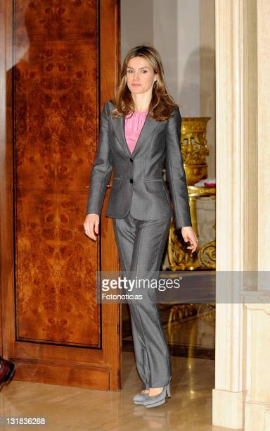 Princess Letizia of Spain attends Audiences at Zarzuela Palace on March 15 2011 in Madrid Spain
