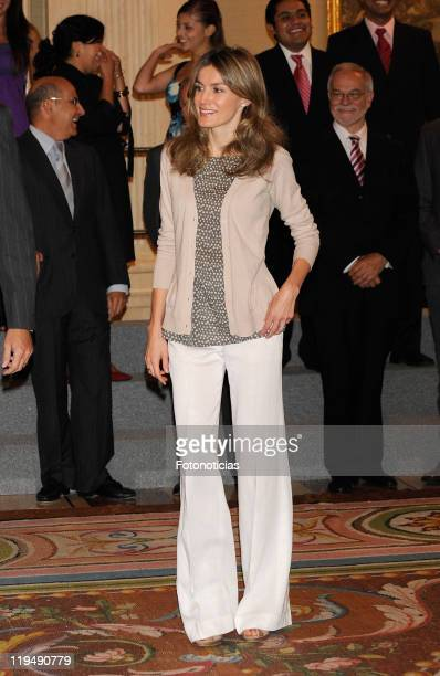 Princess Letizia of Spain attends audiences at Zarzuela Palace on July 21 2011 in Madrid Spain