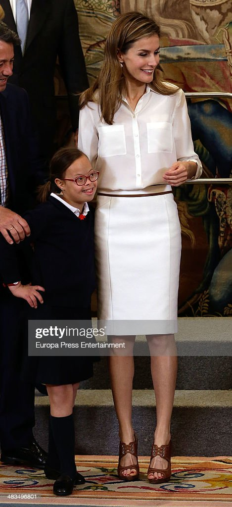 Princess Letizia of Spain Attends Audiences in Zarzuela Palace : News Photo