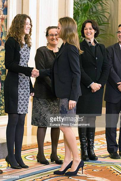 Princess Letizia of Spain attends audiences with members of the 'Spanish Federation of Rare Diseases' and with members of the 'Spanish Association of...