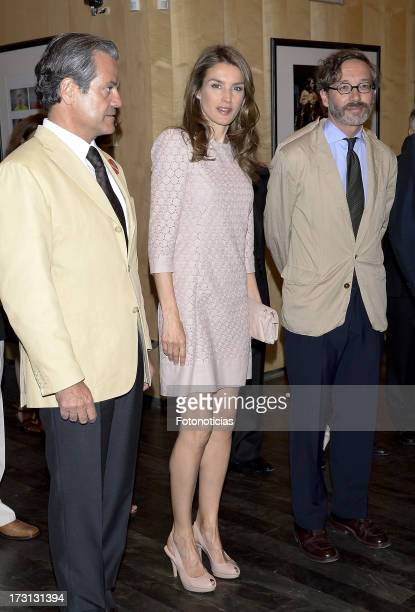 Princess Letizia of Spain attends 'Buero' Theater Awards at the Valle Inclan theater on July 8 2013 in Madrid Spain