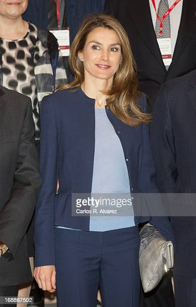 Princess Letizia of Spain attends El Lenguaje de la Crisis seminar at the Monastery of Yuso on May 16 2013 in San Millan de la Cogolla Spain
