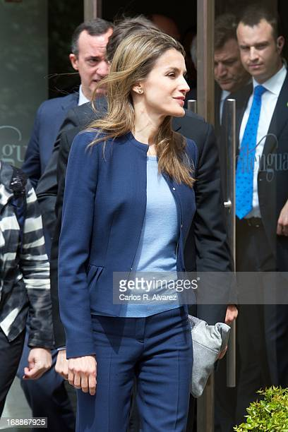 Princess Letizia of Spain attends El Lenguaje de la Crisis seminar at the Monastery of Yuso on May 16 2013 in San Millan de la Cogolla Spain