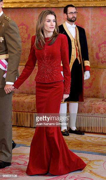 Princess Letizia of Spain attends 'Pascua Militar' at the Royal Palace on January 6 2010 in Madrid Spain