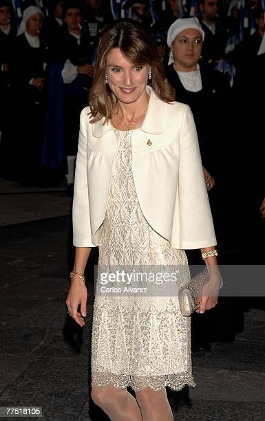 """Princess Letizia of Spain attends Prince of Asturias Award Ceremony on October 26, 2007 at the """"Campoamor"""" Theatre in Oviedo, Spain"""