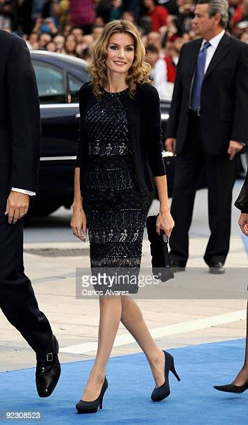 Princess Letizia of Spain attends Prince of Asturias Awards 2009 ceremony at 'Campoamor' Theater on October 23 2009 in Oviedo Spain