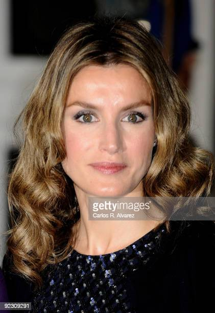 Princess Letizia of Spain attends Prince of Asturias Awards 2009 ceremony at Campoamor Theatre on October 23 2009 in Oviedo Spain
