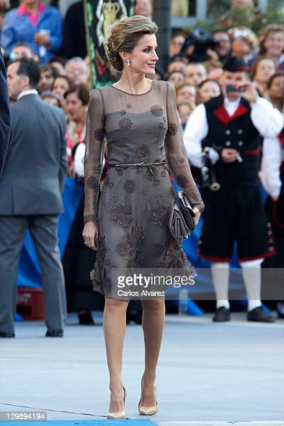Princess Letizia of Spain attends Principe de Asturias awards 2011 ceremony at the Campoamor Theatre on October 21 2011 in Oviedo Spain
