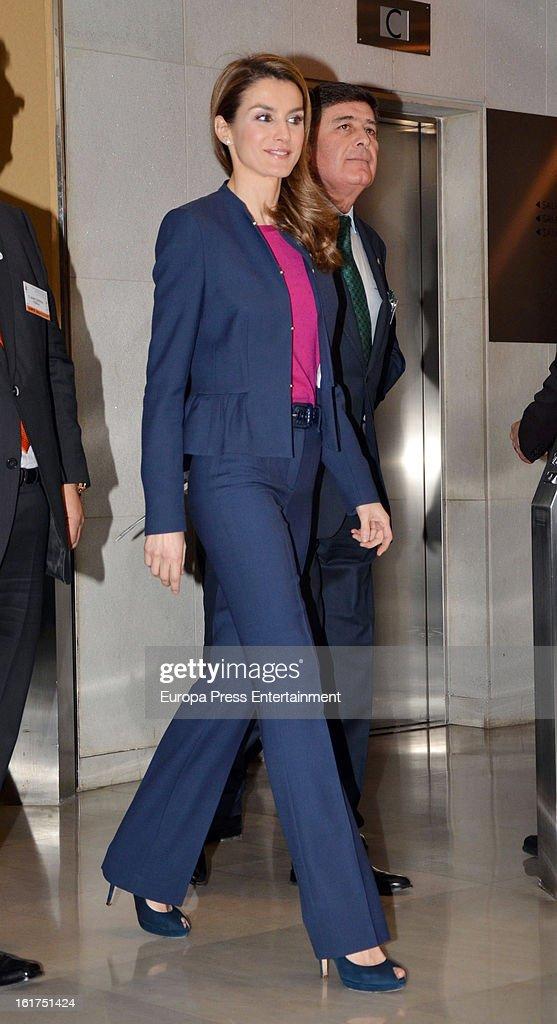 Princess Letizia of Spain Attends Rare Diseases International Congress In Seville : News Photo