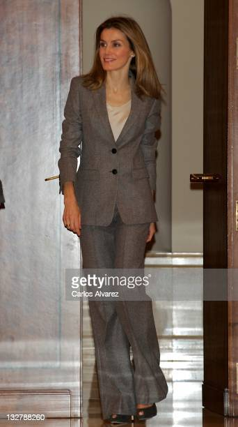Princess Letizia of Spain attends several audiences at Zarzuela Palace on November 14 2011 in Madrid Spain