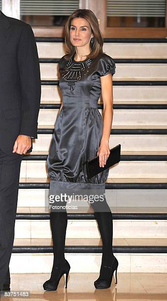Princess Letizia of Spain attends Spanish Youth Congress 25th anniversary dinner at the Palacio de Congresos on November 18 2008 in Madrid Spain