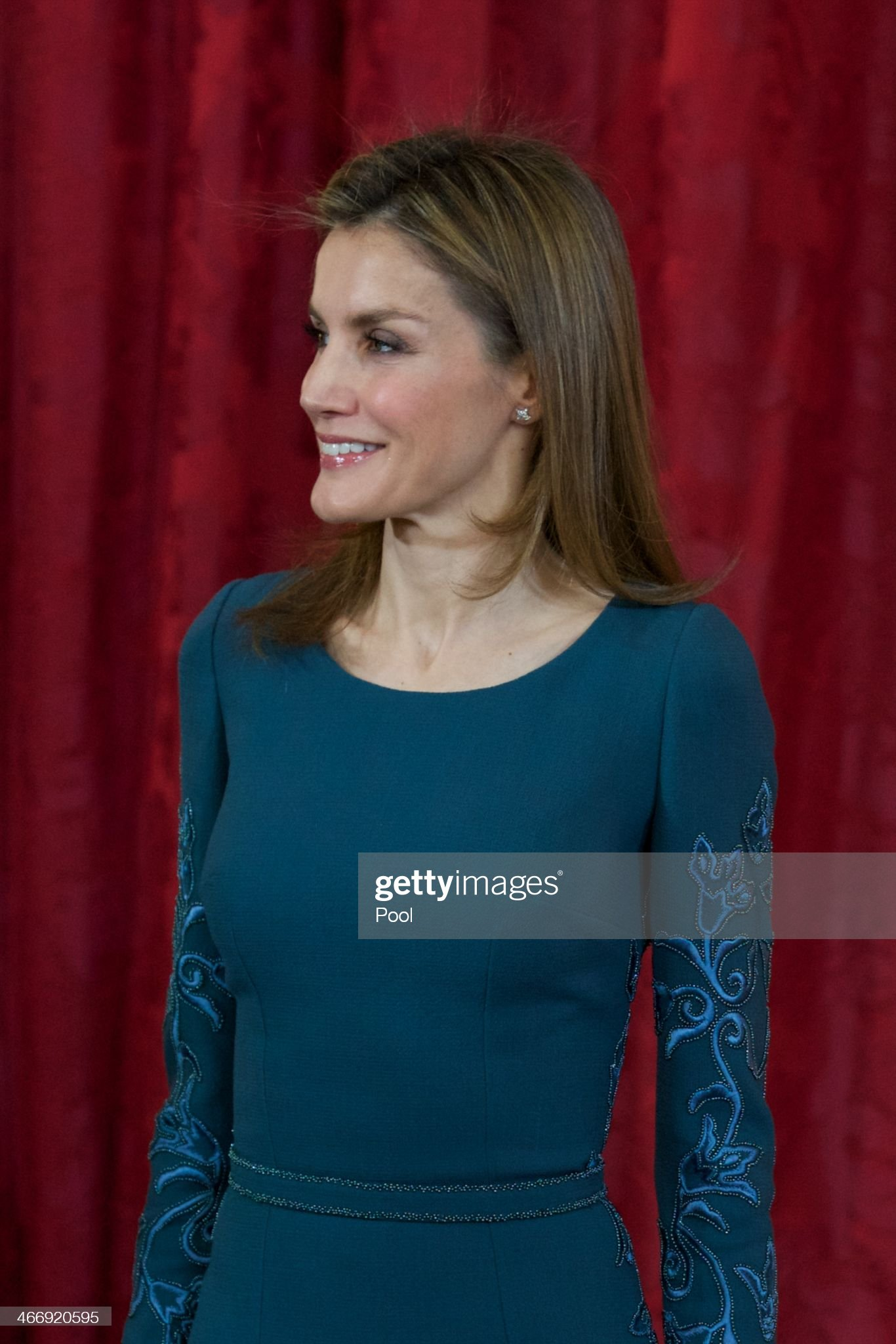 Spanish Royals Receive Diplomatic Corps in Madrid : News Photo