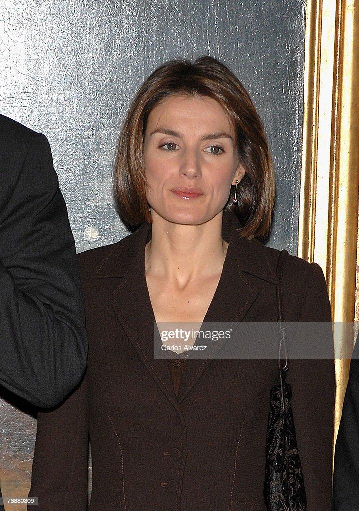 Prince Felipe And Princess Letizia Of Spain Attend Antonio Sancha Awards : News Photo
