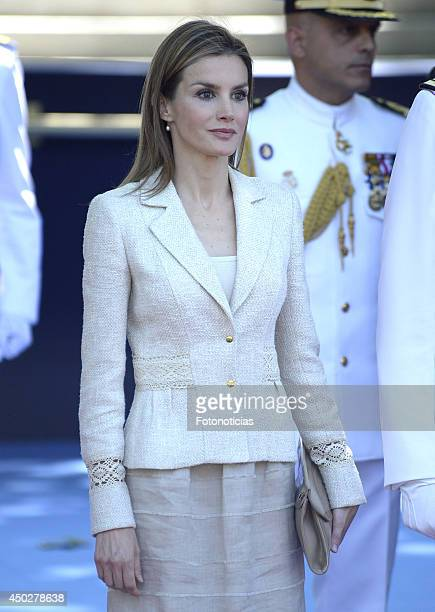 Princess Letizia of Spain attends the Armed Forces Day celebration at Plaza de la Lealtad on June 8 2014 in Madrid Spain