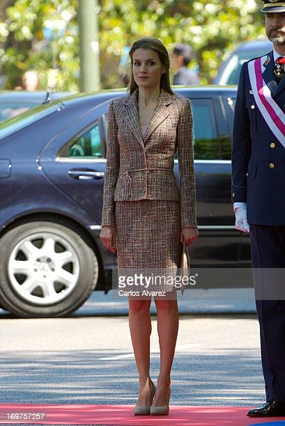 Princess Letizia of Spain attends the Armed Forces Day on June 1 2013 in Madrid Spain