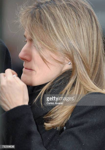 Princess Letizia of Spain attends the funeral for Erika Ortiz younger sister of Princess Letiza on February 08 2007 at La Paz Cemetery near Madrid...