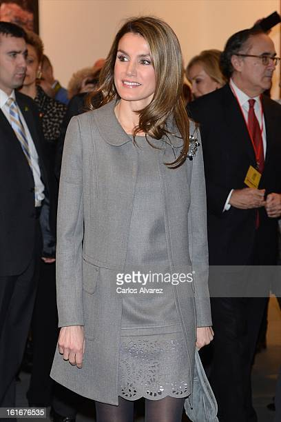 Princess Letizia of Spain attends the inauguration of ARCO Contemporary Art Fair 2013 at Ifema on February 14 2013 in Madrid Spain