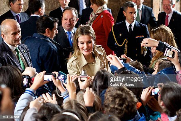Princess Letizia of Spain attends the inauguration of the IX International Seminary about Language and Communication Media El Espanol del Futuro en...